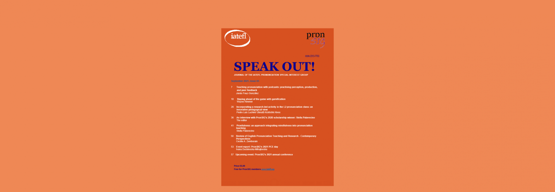 New Speak Out! Journal available now!